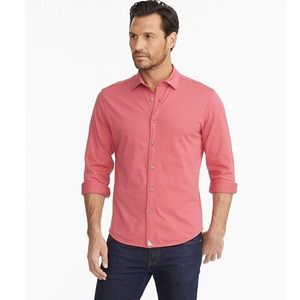 NEW UNTUCKit Huber Red Button Down Shirt